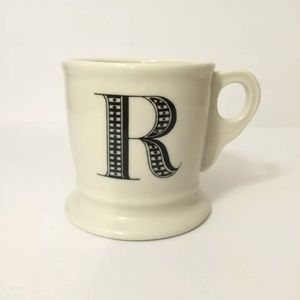 Anthropologie Monogram Initial Coffee Mug 'R'